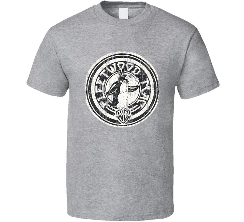 Fleetwood Mac Pop Music Warner Bros Logo Tribute Worn Look T Shirt