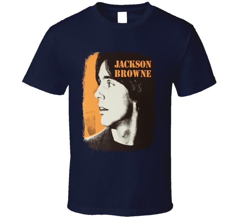 Jackson Browne Rock Music Concert Poster Tribute Worn Look T Shirt