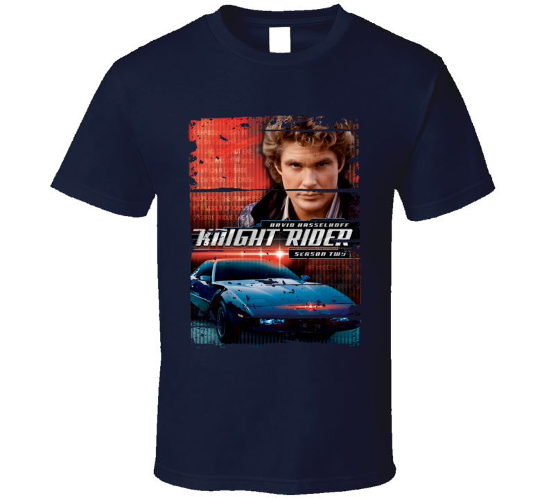 David Hasselhoff Actor Knight Rider Poster Worn Look Movie T Shirt
