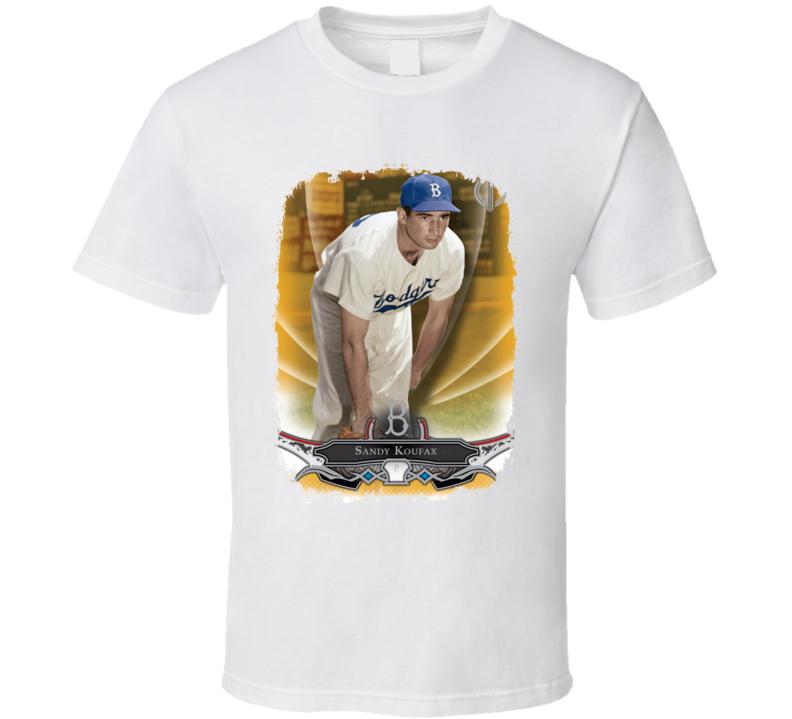 Sandy Koufax Baseball Celebrity Tribute Poster Worn Look Sport T Shirt