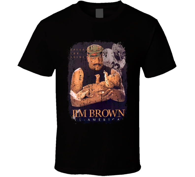 Jim Brown Football Celebrity Movie Poster Worn Look Sports T Shirt