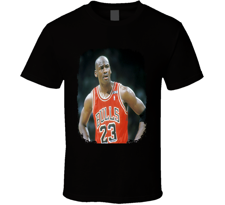 Michael Jordan Basketball Tribute Poster Worn Look Sports T Shirt