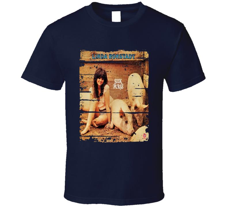 Linda Ronstadt Pop Music Celebrity Tribute Poster Worn Look T Shirt