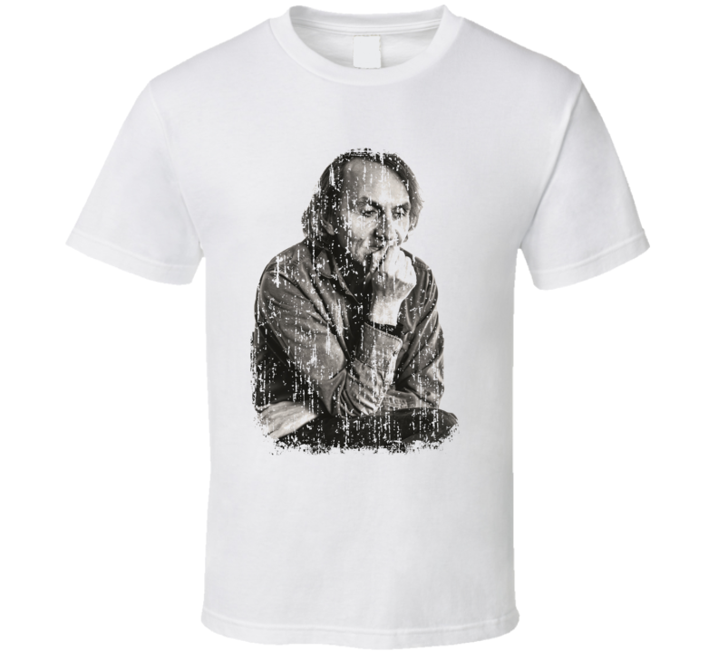 Michel Houellebecq Author Tribute Poster Worn Look Writers T Shirt