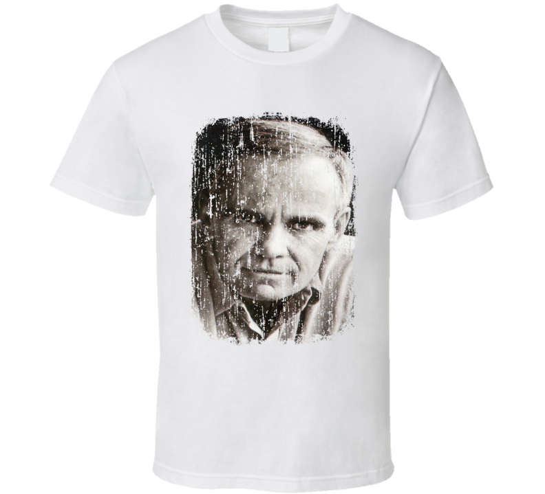 Cormac McCarthy Author Tribute Poster Worn Look Cool Writers T Shirt