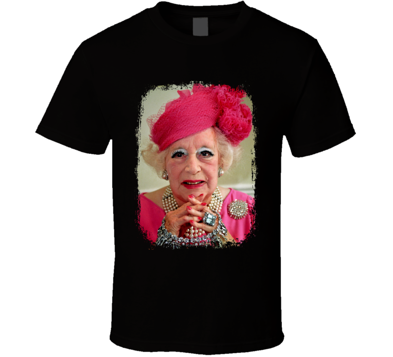 Barbara Cartland Author Tribute Poster Worn Look Cool Writers T Shirt