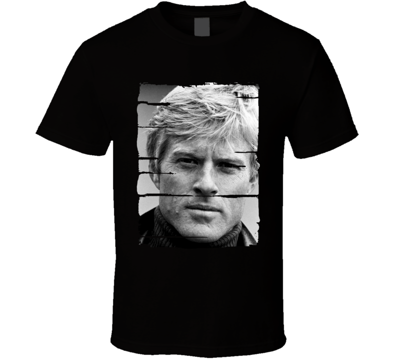 Robert Redford Actor Celebrity Tribute Poster Worn Look Movie T Shirt