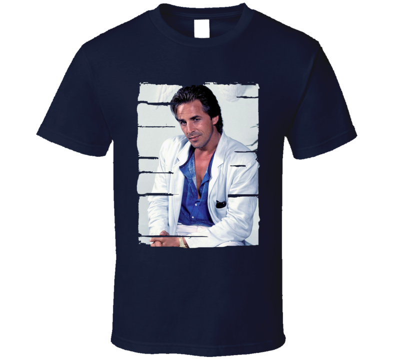 Don Johnson Actor Celebrity Tribute Poster Worn Look Movie T Shirt