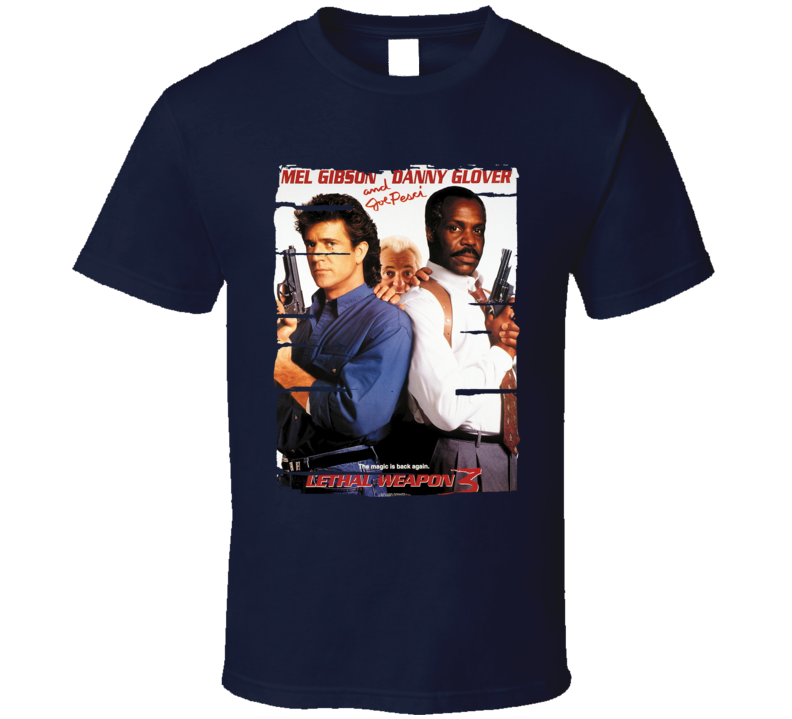 Danny Glover Lethal Weapon Movie Poster Tribute Worn Look T Shirt