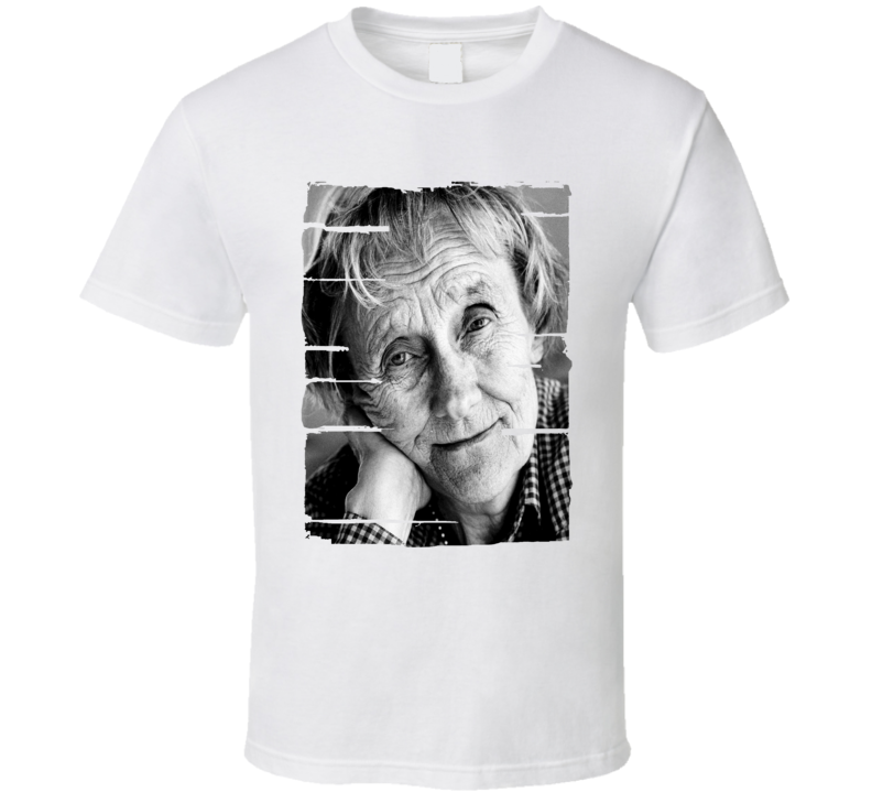 Astrid Lindgren Author Tribute Poster Worn Look Cool Writers T Shirt