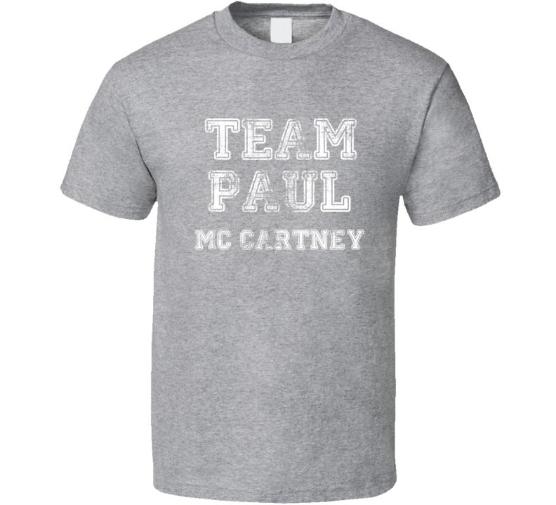 Team Paul McCartney Intimate Carlifonia Concert 2016 Worn Look T Shirt