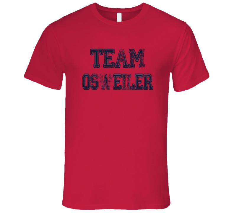 Team Osweiler Texans Football Fan Worn Look Cool Sports Mens Fitted T Shirt