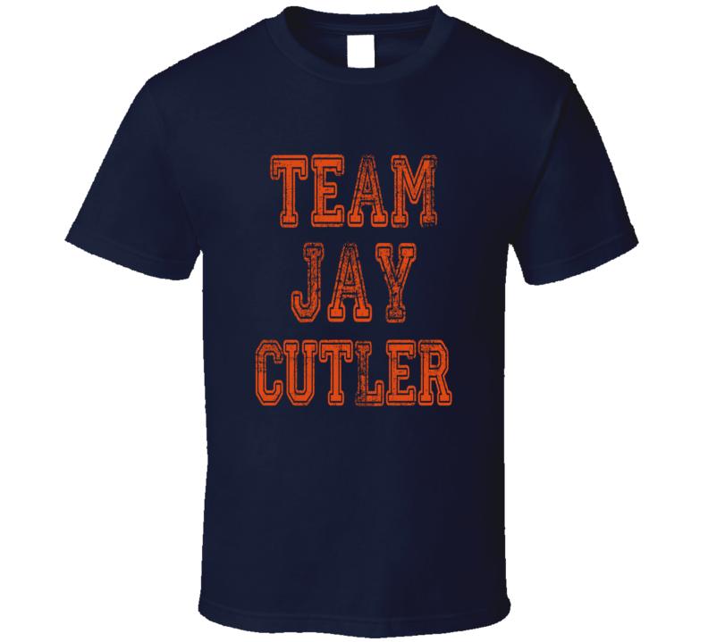 Team Jay Cutler Chicago Football Player Fan Worn Look Sports T Shirt