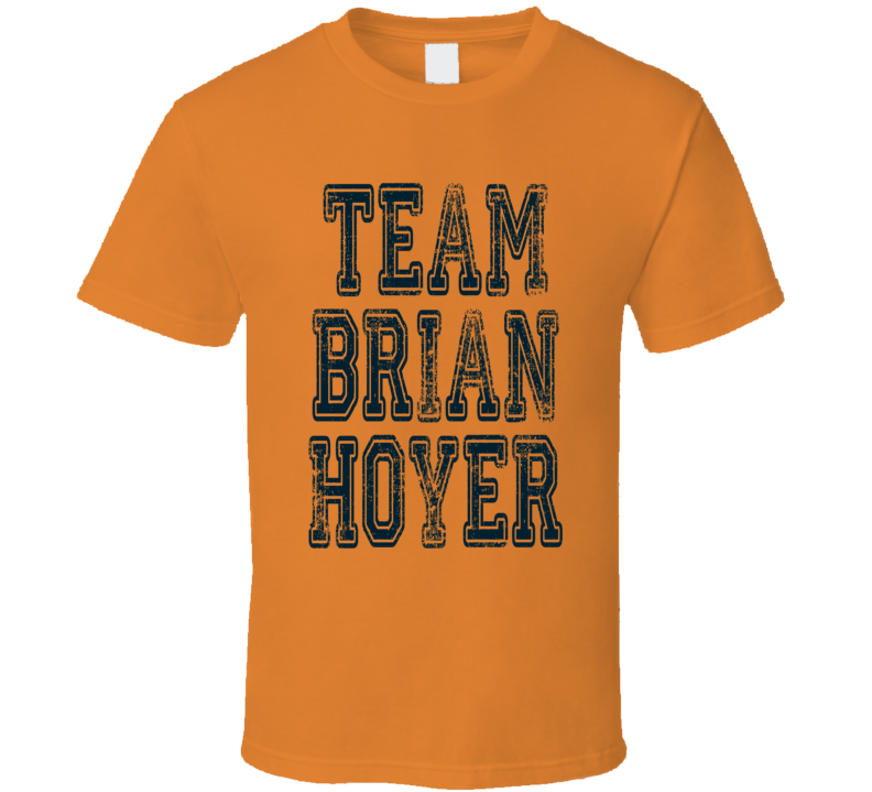 Team Brian Hoyer Chicago Football Player Fan Worn Look Sports T Shirt