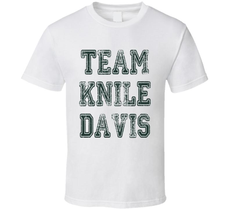 Team Knile Davis Green Bay Football Fan Worn Look Cool Sports T Shirt