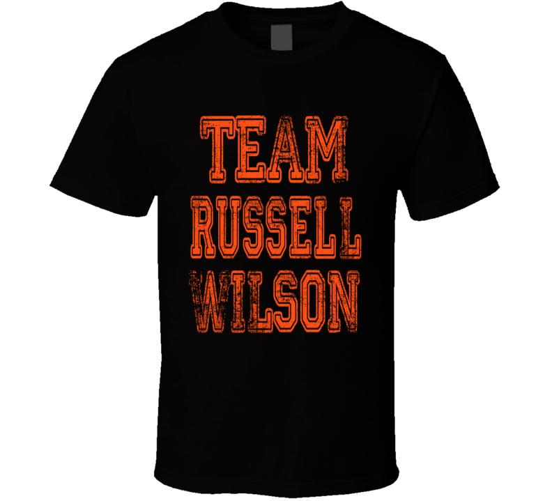 Team Russell Wilson Cincinnati Football Fan Worn Look Sports T Shirt