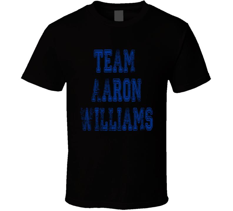 Team Aaron Williams Buffalo Football Player Worn Look Sports T Shirt