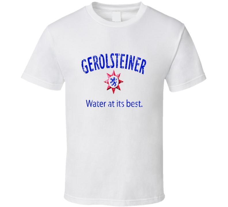 Gerolsteiner Brunnen Water Mineral Drink Worn Look Beverage T Shirt