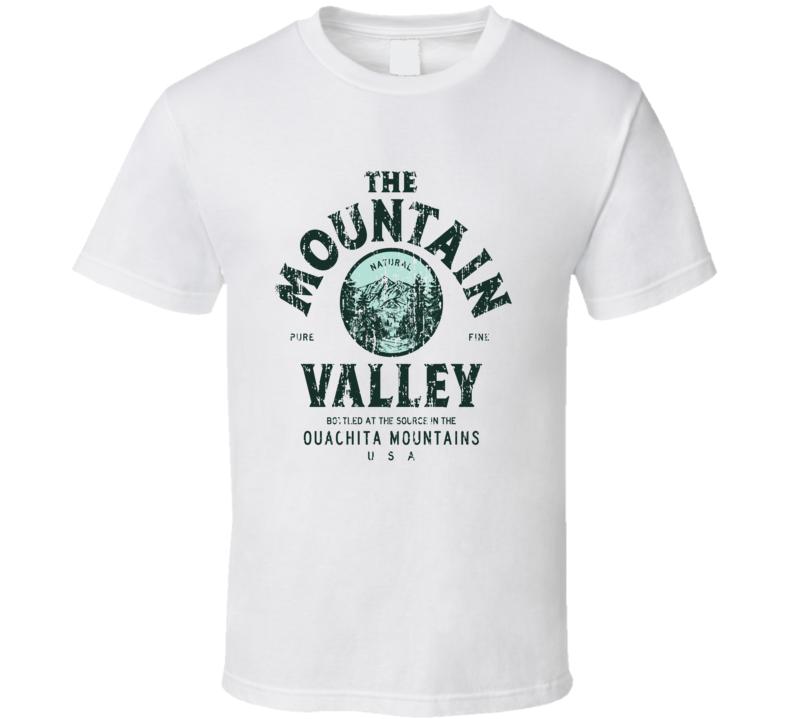 Mountain Valley Spring Water Mineral Drink Worn Look Beverage T Shirt