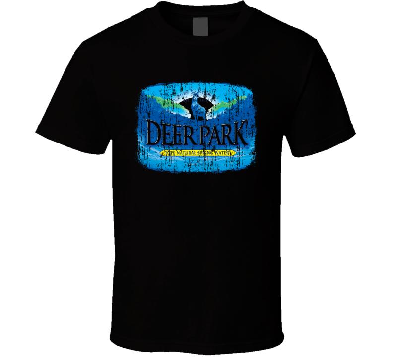 Deer Park Spring Water Mineral Drink Worn Look Cool Beverage T Shirt