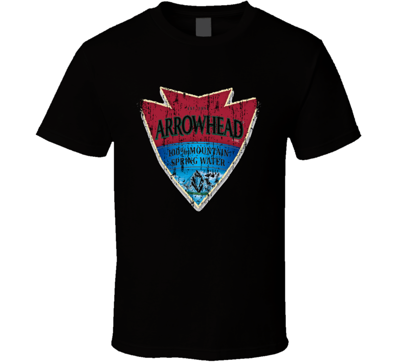 Arrowhead Water Natural Mineral Drink Worn Look Cool Beverage T Shirt