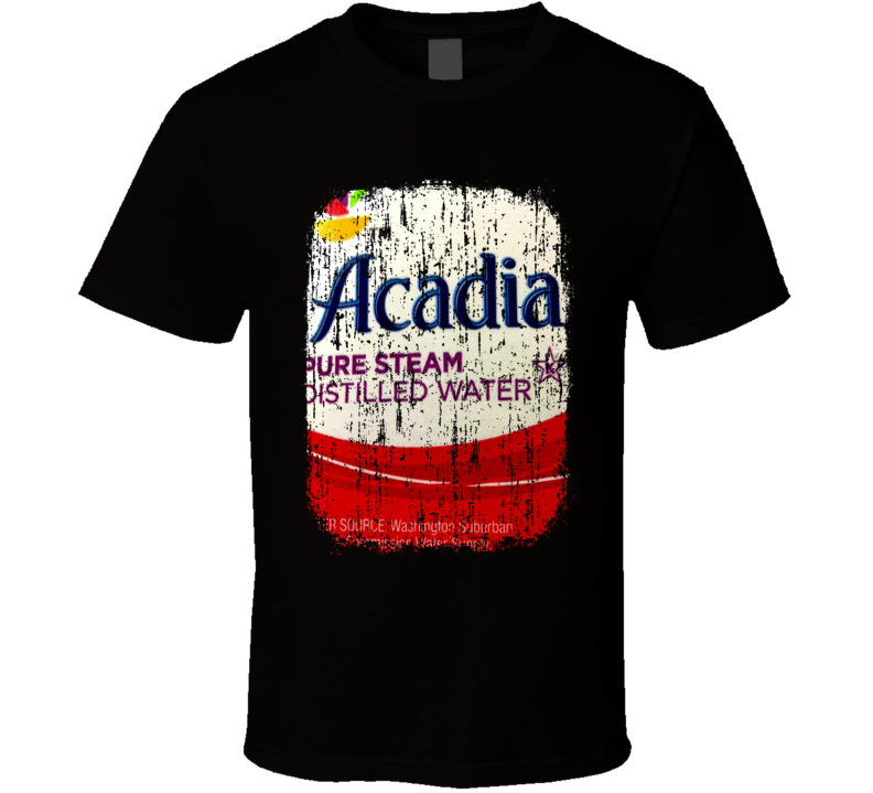 Acadia Water Natural Mineral Drink Worn Look Cool Beverage T Shirt