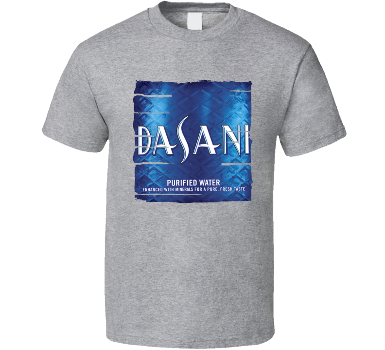 Dasani Water Natural Mineral Drink Worn Look Cool Beverage T Shirt