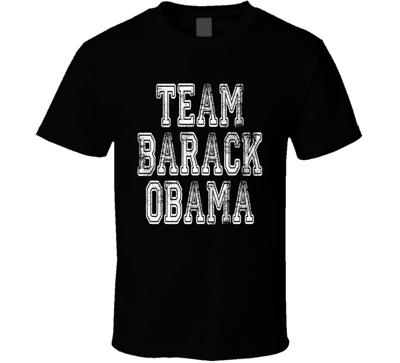 Team Barack Obama Jimmy Kimmel Mean Tweets Worn Look Political T Shirt
