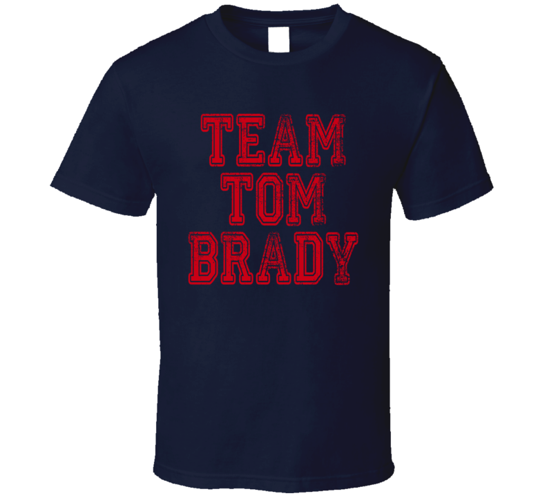Team Tom Brady New England Football Player Fan Worn Look Cool T Shirt