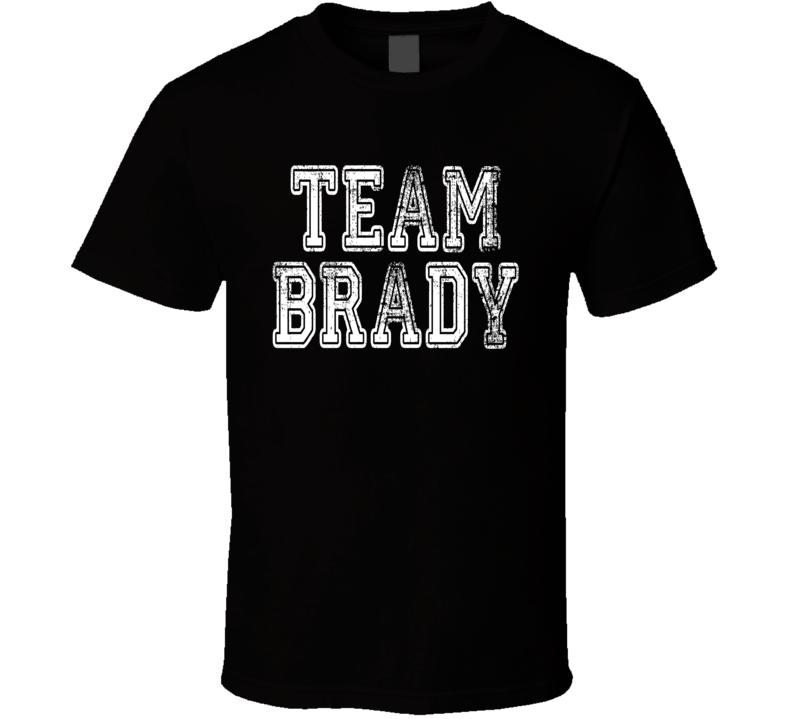 Team Tom Brady New England Football Player Worn Look Sports T Shirt
