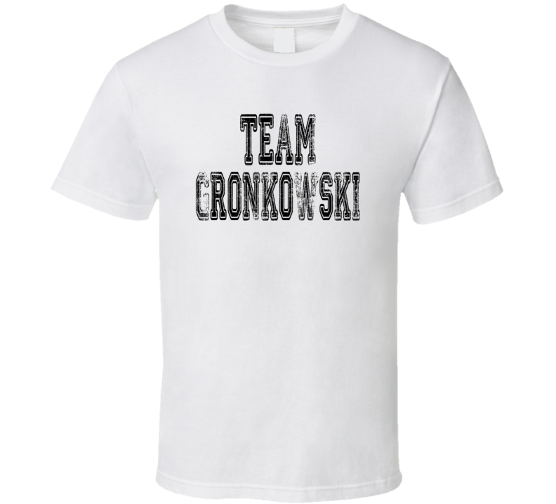 Team Gronkowski New England Football Player Worn Look Sports T Shirt