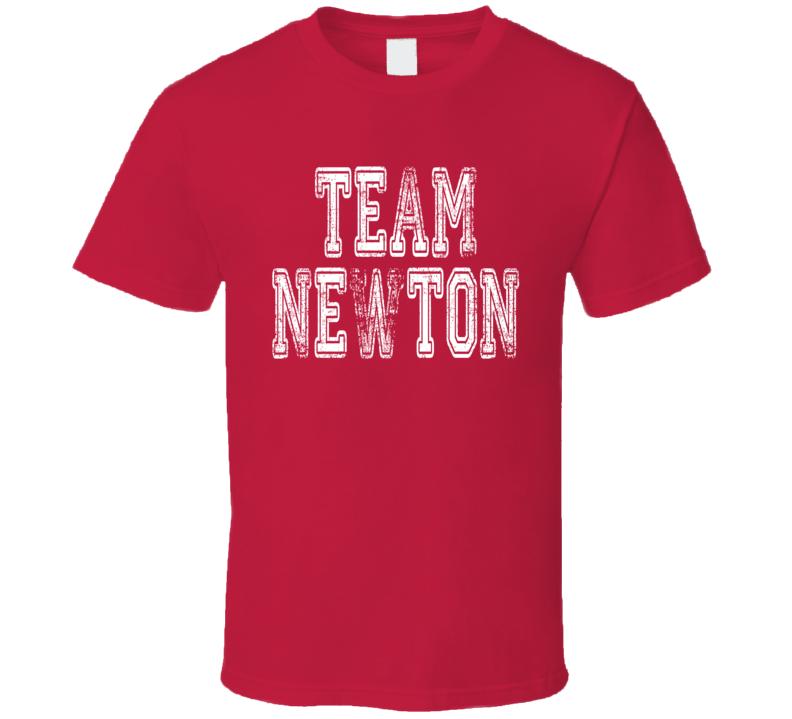 Team Newton Carolina Football Player Fan Worn Look Cool Sports Shirt