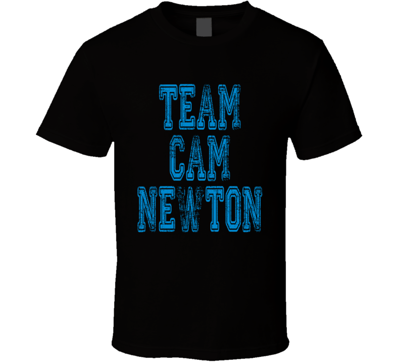 Team Cam Newton Carolina Football Player Fan Worn Look Sports Shirt