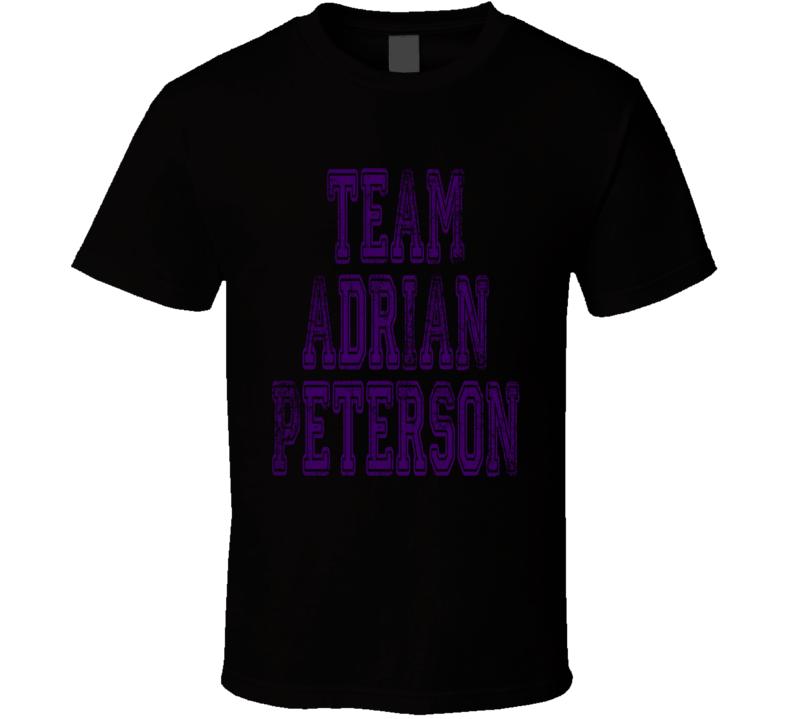 Team Adrian Peterson Minnesota Football Player Worn Look Cool T Shirt