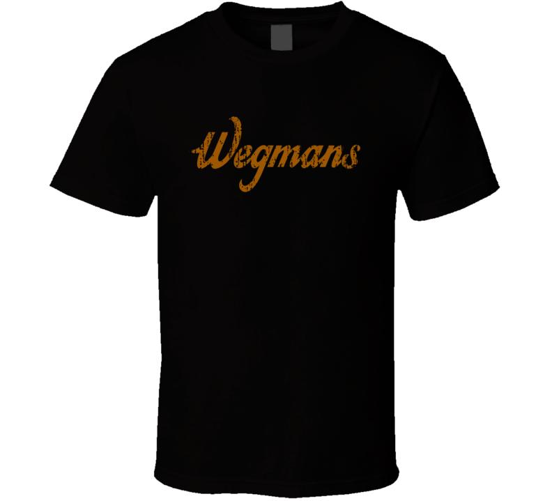 Wegman's Water Natural Mineral Drink Worn Look Cool Beverage T Shirt