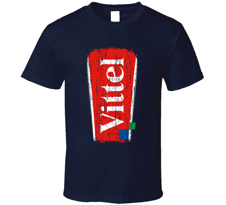 Vittel Water Natural Mineral Drink Worn Look Cool Beverage T Shirt