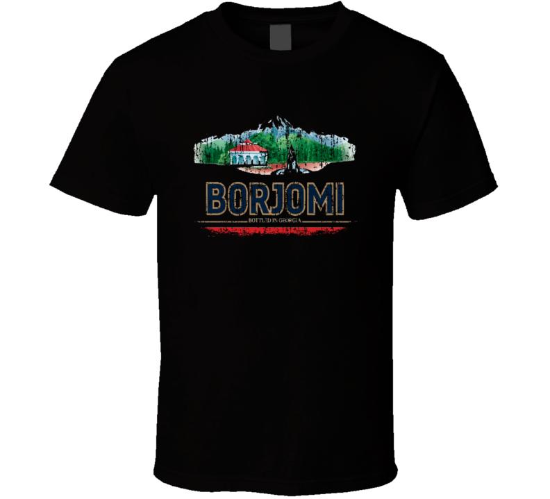 Borjomi Water Natural Mineral Drink Worn Look Cool Beverage T Shirt