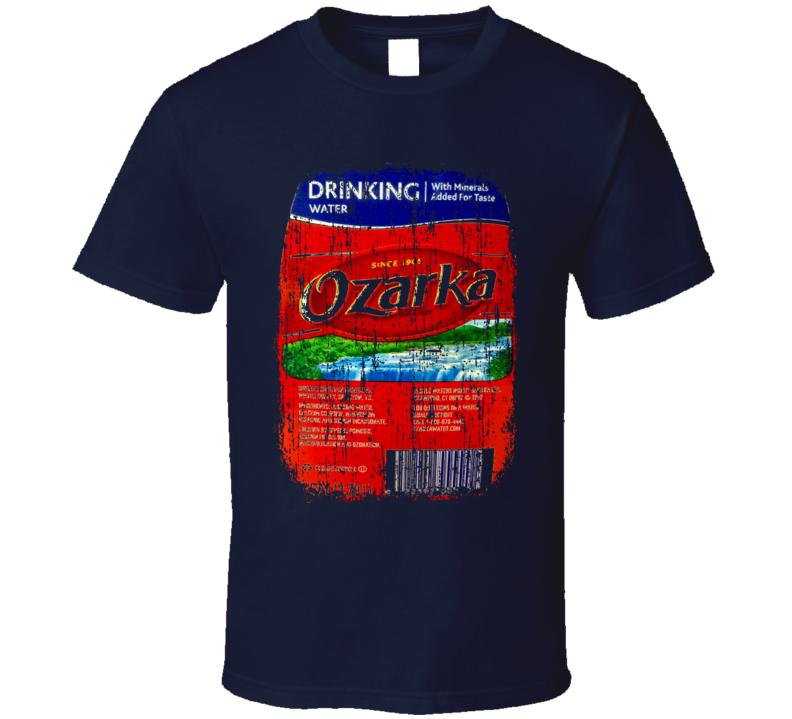 Ozarka Water Natural Mineral Drink Worn Look Cool Beverage T Shirt