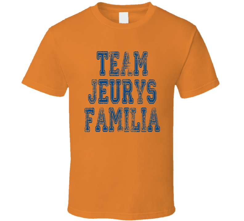 Team Jeurys Familia New York Baseball Player Worn Look Cool T Shirt