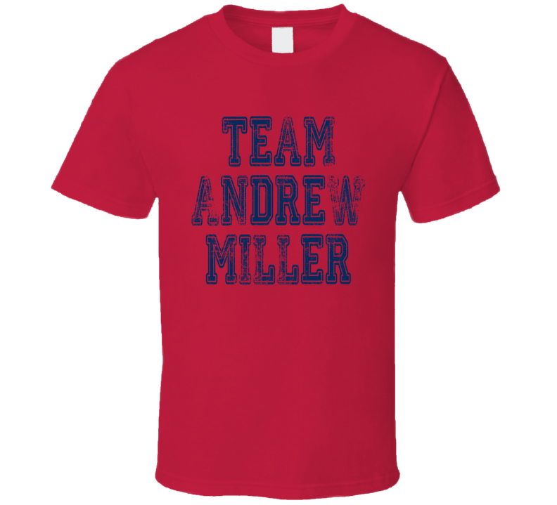 Team Andrew Miller Cleveland Pitcher Baseball Fan Worn Look T Shirt