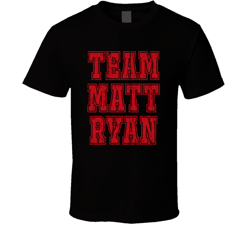 Team Matt Ryan Atlanta Football Player Worn Look Sports T Shirt