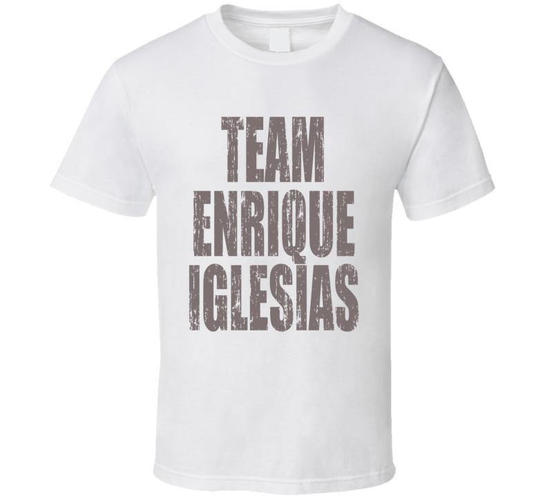 Team Enrique Iglesias Lip Sync Battle Worn Look Hip Music T Shirt