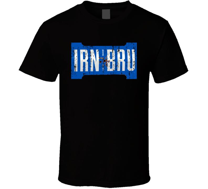 Irn-Bru 32 Energy Drink Cool Caffine Beverage Worn Look Sports T Shirt