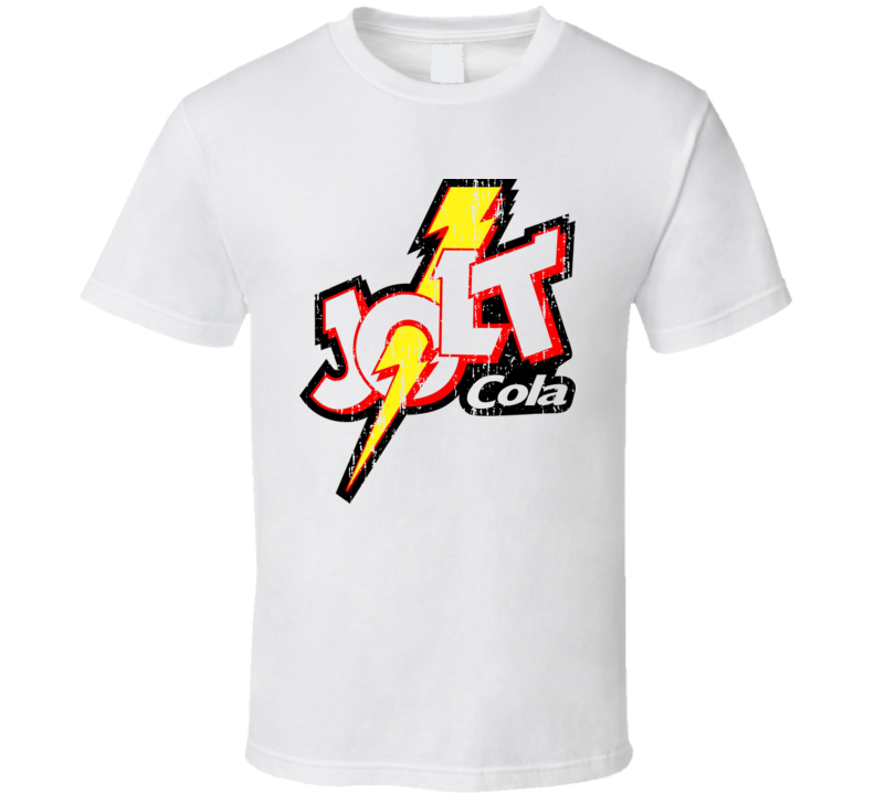 Jolt Cola Energy Drink Cool Caffine Beverage Worn Look Sports T Shirt