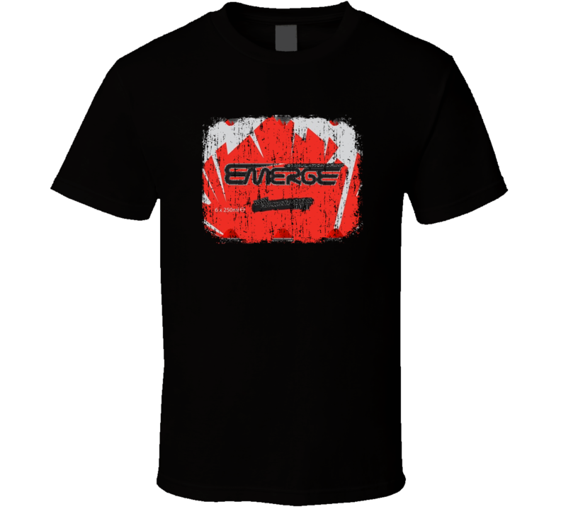 Emerge Stimulation Energy Drink Caffine Beverage Worn Look T Shirt