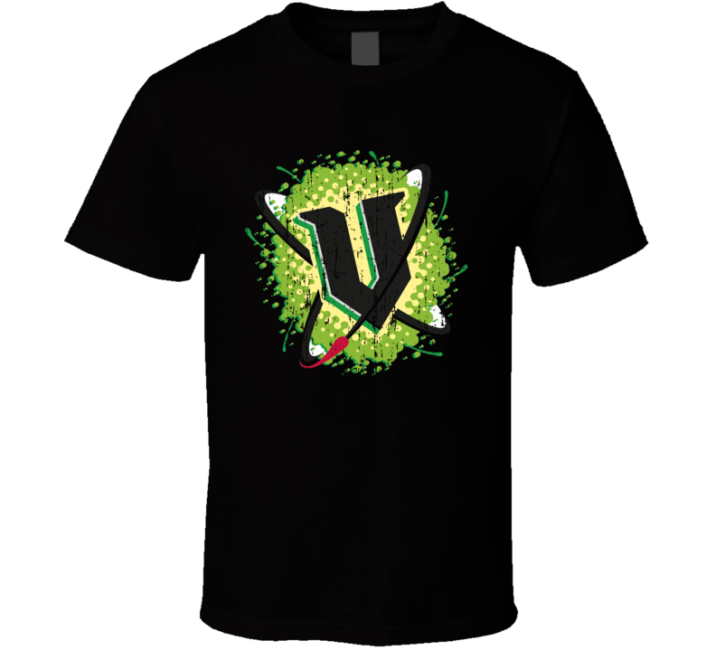 V Energy Drink Cool Caffeine Beverage Worn Look Sports T Shirt