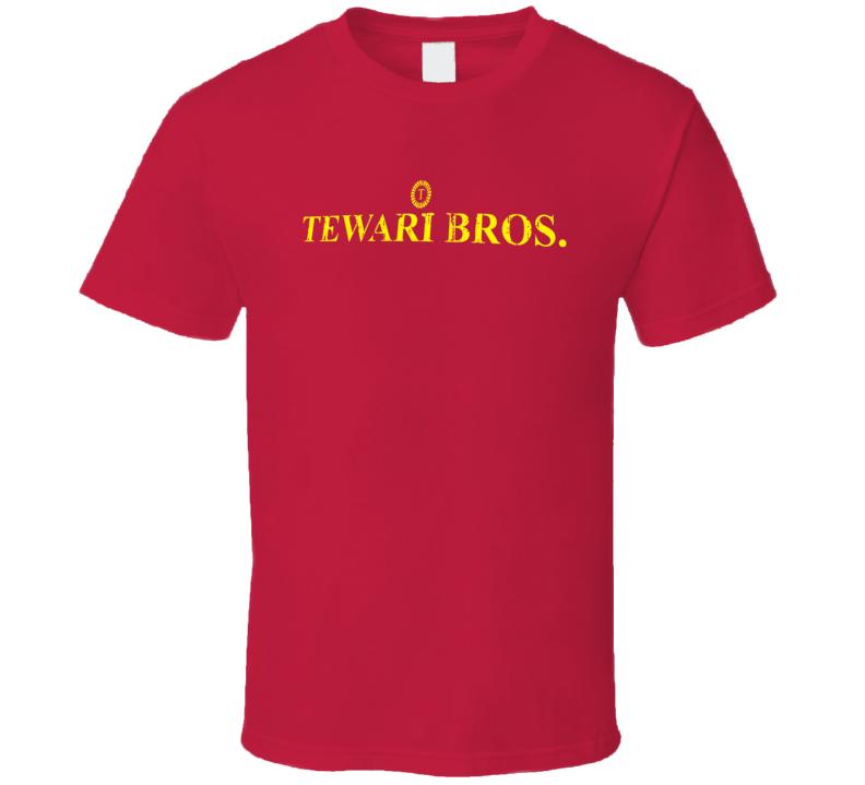 Tewari Bros Indian Cuisine Cool Curry Food Lover Worn Look T Shirt