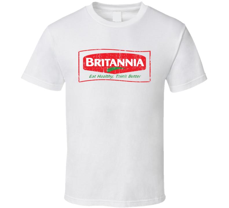 Britannia Indian Cuisine Cool Curry Food Lover Worn Look T Shirt