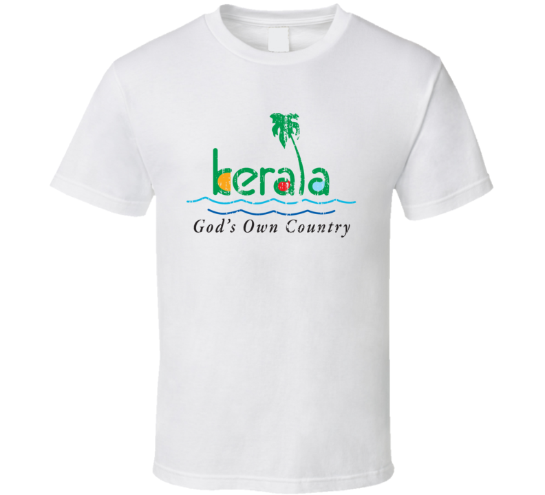 Kerala Indian Cuisine Cool Curry Food Lover Worn Look T Shirt