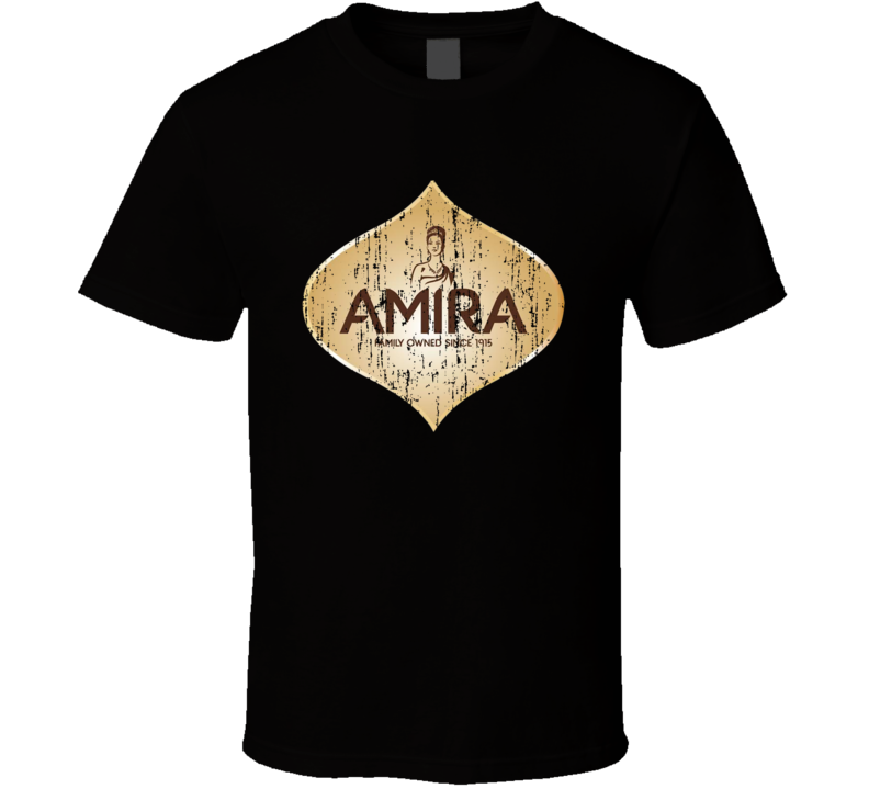 Amira Nature Indian Cuisine Cool Curry Food Lover Worn Look T Shirt